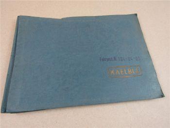 Kaelble 3WTV Vibrations Tandemwalze Ersatzteilliste 1968 Ersatzteilkatalog