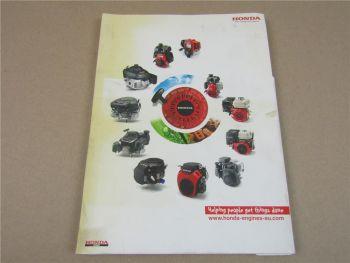 Mappe Honda Motoren Kurzanleitung 2010-2011 Poster Inspektionen Prospekt
