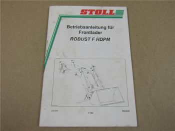 Stoll Robust F HDPM Frontlader Betriebsanleitung Bedienungsanleitung