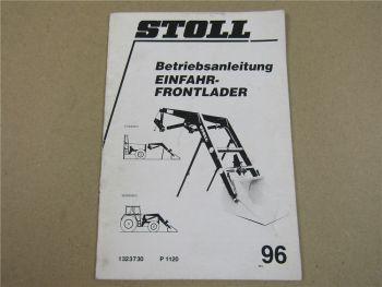 Stoll Einfahr Frontlader Betriebsanleitung 1996 Bedienung Wartung