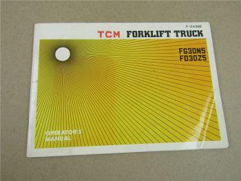 TCM FG30N5 FD30Z5 Forklift Truck Operator s Manual 9/1977