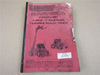 Merlo Panoramic P 38.13 Plus Variable Reach Truck Instruction Handbook Maintenan