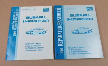 Ergänzungen zu Subaru Impreza Werkstatthandbuch MJ 2000 Reparaturhandbuch