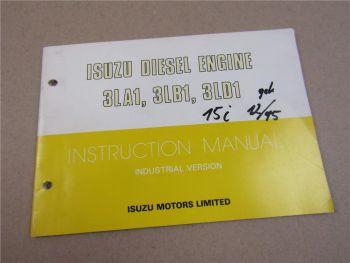 Isuzu 3LA1 3LB1 3LD1 Diesel Engine Instruction Manual Maintenance