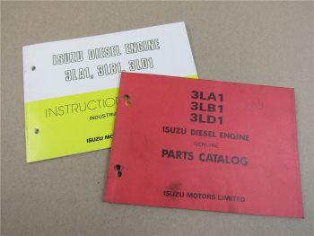 Isuzu 3LA1 3LB1 3LD1 Diesel Engine Instruction Manual Parts List 90s