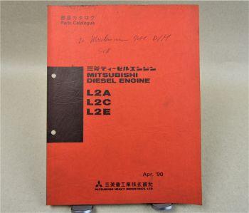 Mitsubishi L2A L2C L2E diesel Engine Parts List 1990 Ersatzteilliste in engl