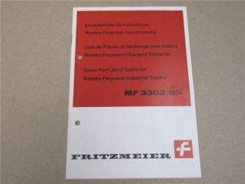 Fritzmeier Fahrerdach Massey Ferguson MF 3303/05 Lader Ersatzteilliste Parts Lis