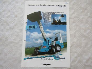 Prospekt Krüger K1 Hoflader