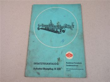 VEB Fortschritt B550 Aufsattel Beetpflug Ersatzteilkatalog 1983 Ersatzteilliste