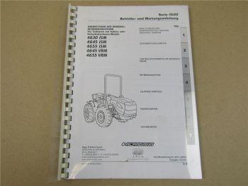 Argo Tractors 4630 4645 4655 ISM VRM Betriebsanleitung 2013 Bedienung Wartung