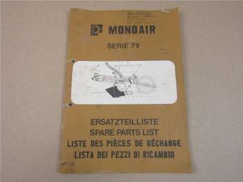 H. Fähse & Co Monoair Serie 79 Ersatzteilliste Ersatzteilkatalog