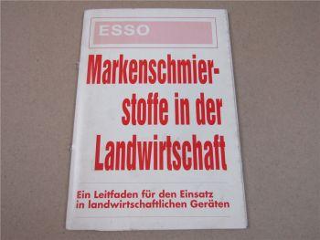Esso Markenschmierstoffe in der Landwirtschaft 1990 Schlepper Mähdrescher