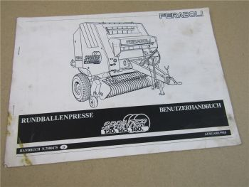 Feraboli Sprinter 120 165 180 Presse Bedienungsanleitung Betriebsanleitung 1999