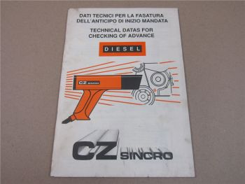 CZ SINCRO Technical Data for checking of advance Diesel