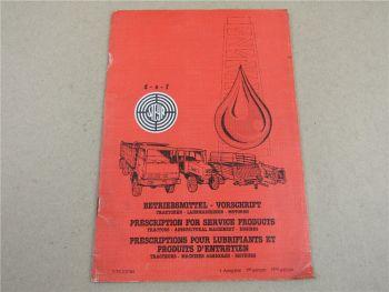 Steyr Betriebsmittel Vorschrift für Traktoren Landmaschinen Motoren 1984
