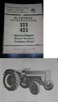 IHC 323, 423 Dieselschlepper Ersatzteilliste 1966