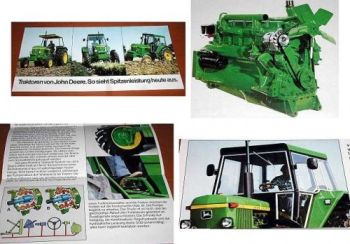 John Deere 830 930 4430 Traktor Schlepper Prospekt 1976