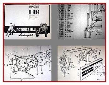 Lamborghini R854 Potenza Blu Traktor Ersatzteilkatalog