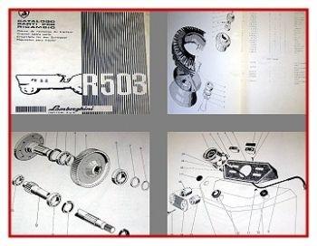 Lamborghini R503 + DT/S/DTS Traktor Ersatzteilkatalog