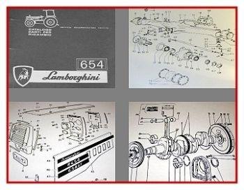 Lamborghini R654 + DT Traktor Ersatzteilkatalog 1978