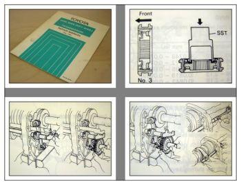 Toyota repair manual W45 W55 W57 W45J Transmission 1981