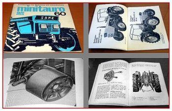 Betriebsanleitung Same Minitauro 60 Bedienung & Instandhaltung 1978