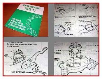 Honda HR-EL17 Rasenmäher Werkstatthandbuch 1982 Reparaturanleitung