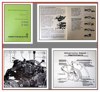 Lanz Hela 634, 542 Betriebsanleitung Regelhydraulik