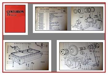 Same Centurion 75 Special Traktor Ersatzteilliste 1981