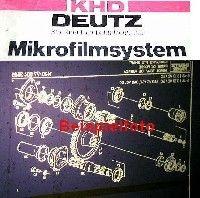 Ersatzteilkatalog  Deutz D4807 Traktor Ersatzteilliste Microfich 1985