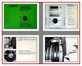 Claas Bordinformator Betriebsanleitung 1990