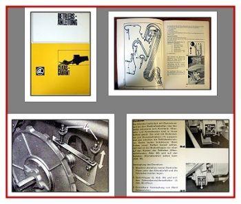 Claas Garant Mähdrescher Betriebsanleitung 1968