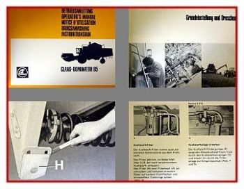 Claas Dominator 85 Mähdrescher Betriebsanleitung 1978