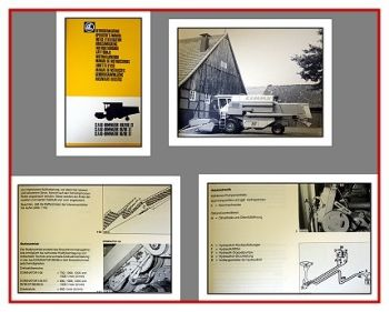 Claas Dominator 86, 96, 106 + ST Betriebsanleitung 1985