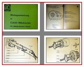 Claas SFB Matador Matador Standard Reparaturhandbuch