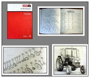 Case 740 840 940 Traktor Ersatzteilkatalog Parts Catalog 1990