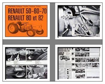 Renault 50, 60, 70, 80, 82 Traktor Betriebsanleitung