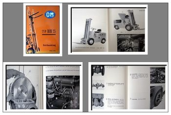 Fiat - OM DIM 25 Gabelstapler Bedienungsanleitung