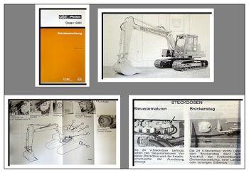 Case Poclain 688C Bagger Betriebsanleitung 1989