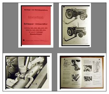 IHC / Mc Cormick 323 bis 654 Handbuch Mähwerk 1215 1216
