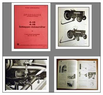 IHC / Mc Cormick 323, 423, 523, 624 Handbuch Mähwerk