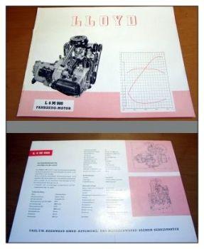 Borgward Lloyd Arabella 900 Motor L4M 900 Prospekt