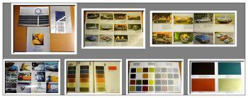 Mercedes Benz Programm & Polster & Lacke 3x 1977/81