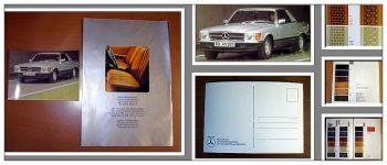 Mercedes Benz 450 SLC 5.0 Postkarte + Prospekt Polster