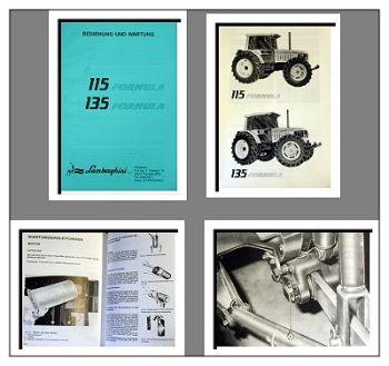 Lamborghini 115, 135 Formula Betriebsanleitung 1989