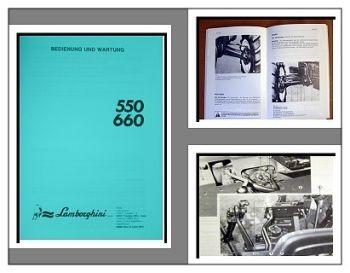 Lamborghini 550, 650 Betriebsanleitung 1989
