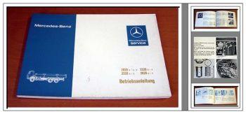 Mercedes Benz 2028 2228 2628 6x2 6x4 Betriebsanleitung 1979