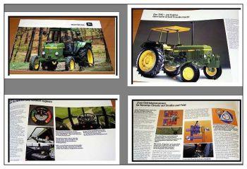 John Deere 1140 Traktoren Schlepper Prospekt 1984