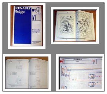 Renault Twingo X06 Modell 1993 Werkstatthandbuch Schaltpläne