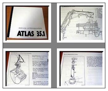 Atlas 35.1 Kran Betriebs- u. Wartungshandbuch